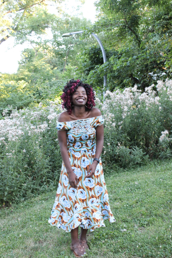 Off the Shoulder Ankara Dress || CancanRoynelle.com