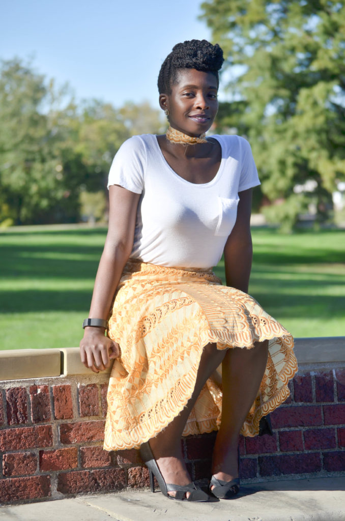 African Lace Skirt || CancanRoynelle.com