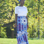 African Print Maxi Skirt || CancanRoynelle.com