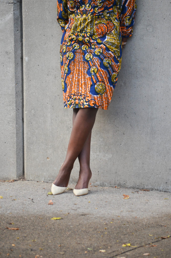 African Print Shift Dress || CancanRoynelle.com