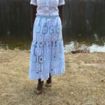 African Outfit: Lace Midi Skirt || CancanRoynelle.com