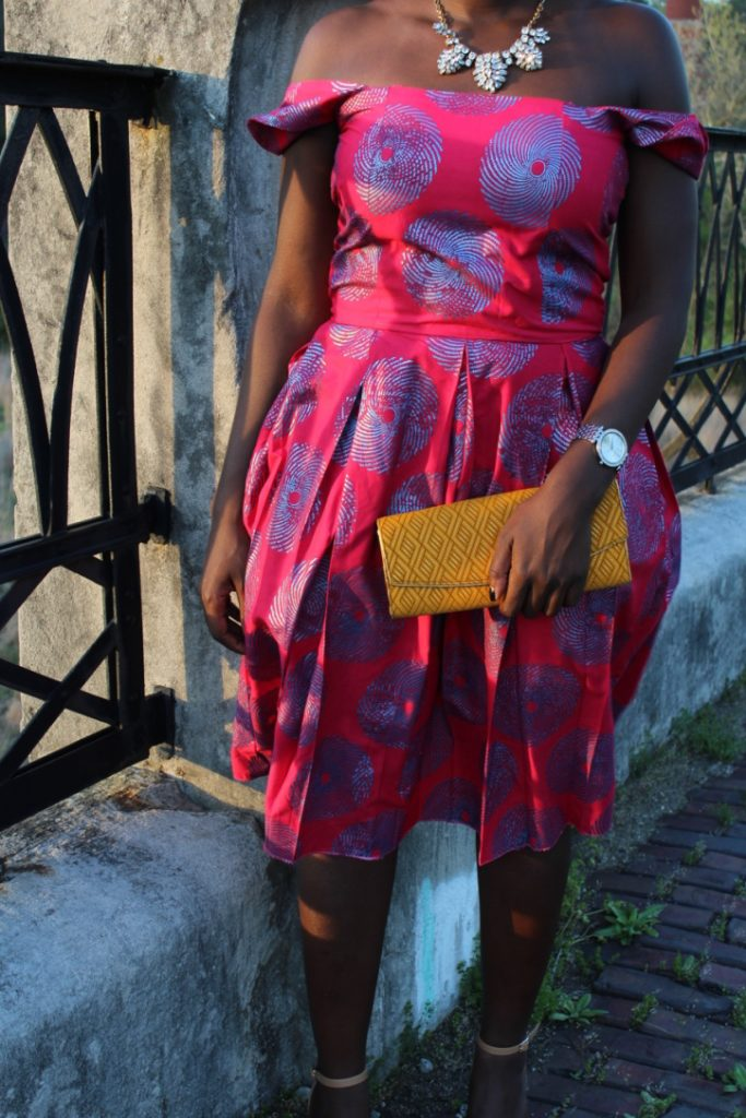 African Outfit: Off the Shoulder Dress