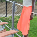 Orange Midi Skirt || CancanRoynelle.com