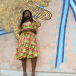 African Outfit: Off the Shoulder Flare Dress || CancanRoynelle.com