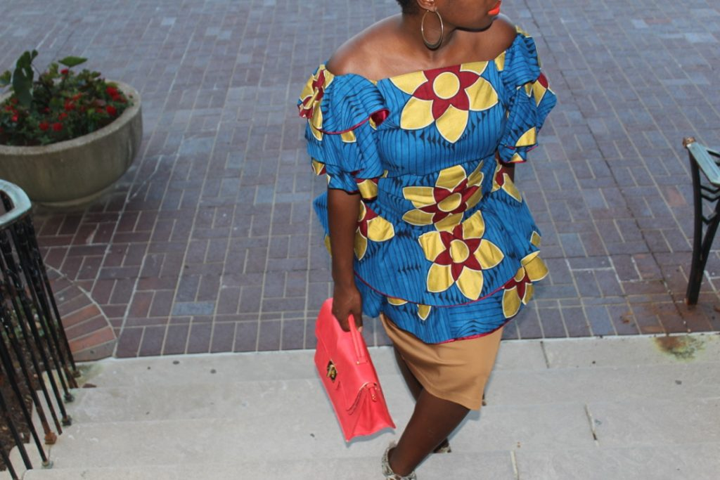 African Outfit: Off the Shoulder Ruffles || CancanRoynelle.com