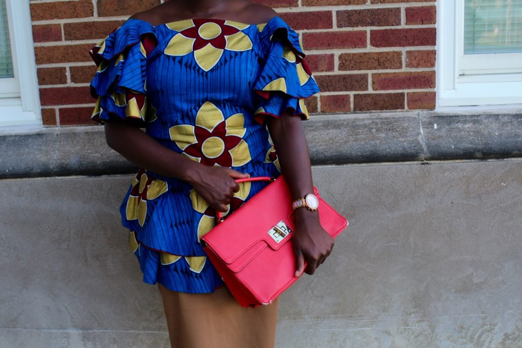 African Outfit: Off the Shoulder Ruffles