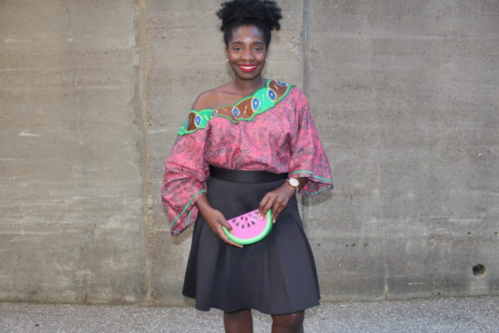 African Outfit: Pink Off the Shoulder || CancanRoynelle.com