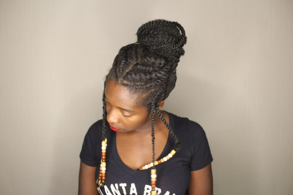 Protective Style: Top Knot Tutorial