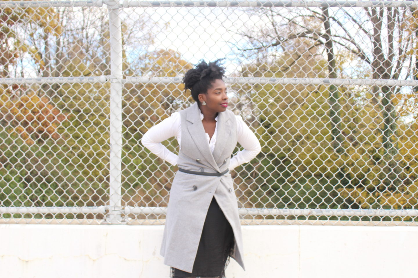One Outfit 3 Ways: Grey Vest Part II || CancanRoynelle.com